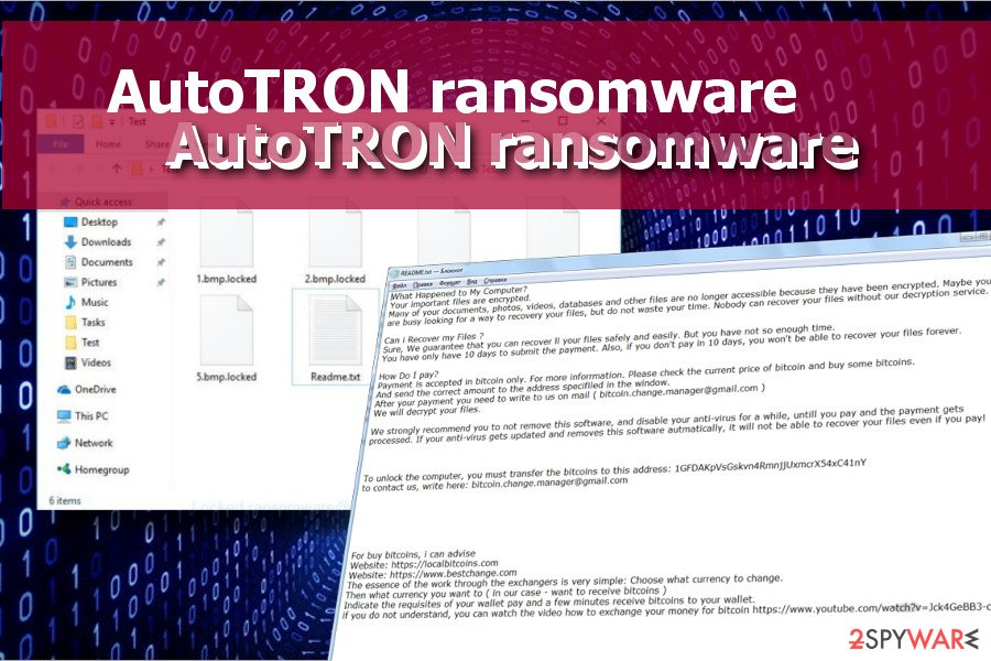 AutoTRON ransomware locks data