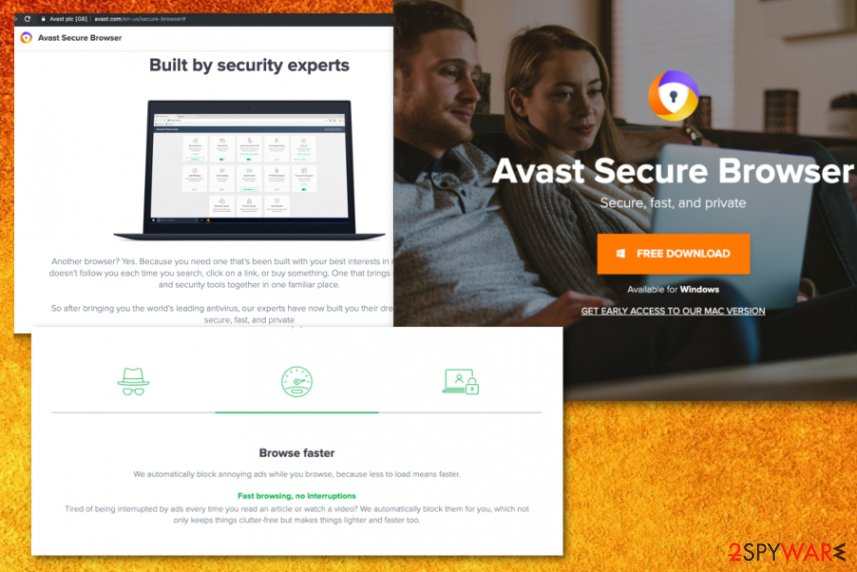 Avast SafeZone browser virus