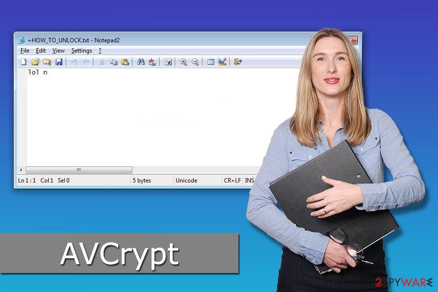AVCrypt ransomware virus