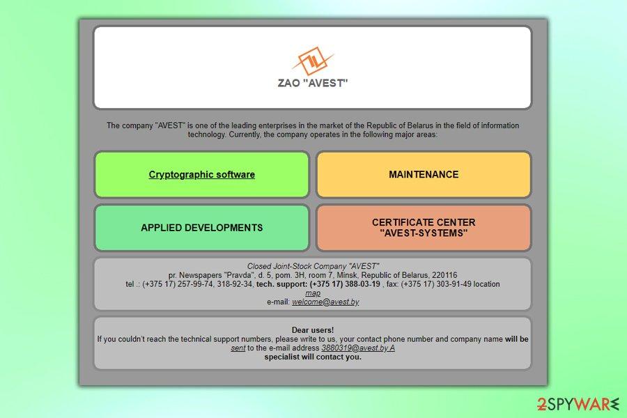 Avest ransomware mimics a company name