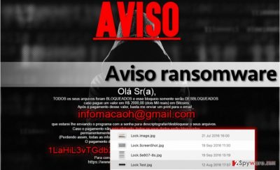 Aviso virus replaces desktop wallpaper with this image