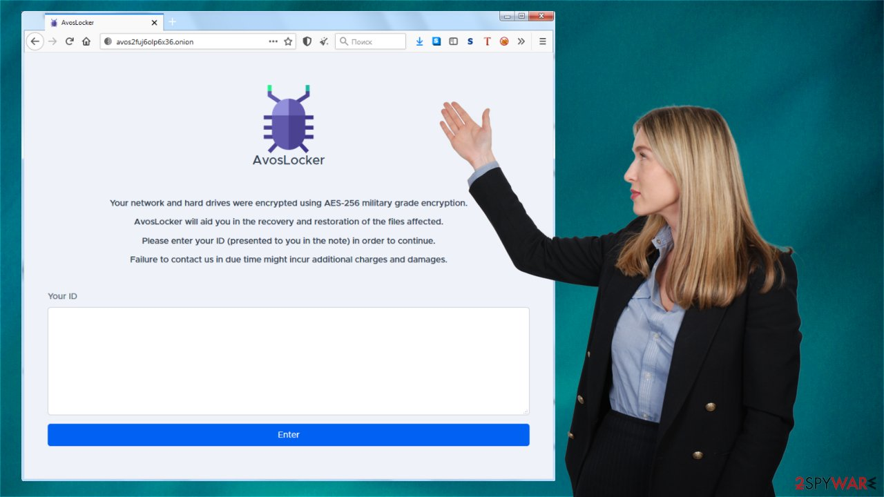 AvosLocker ransom page