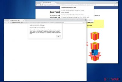 Awesome Gift Of The Day virus appears as a pop-up scam message