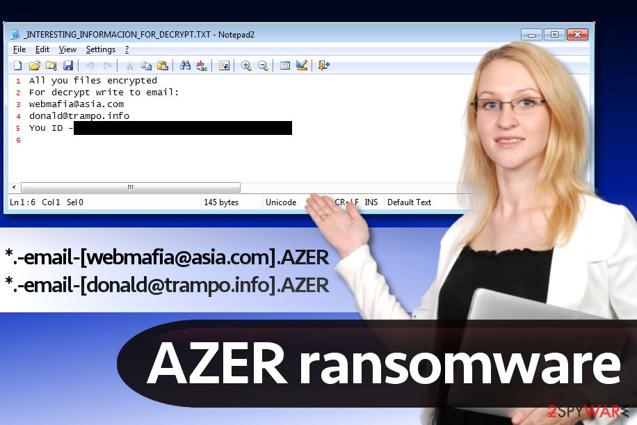 Azer malware (Cryptomix version)