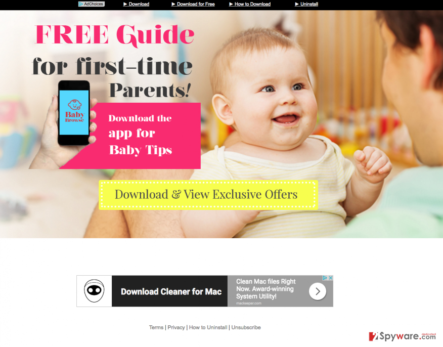 the picture showing babybrowse official website