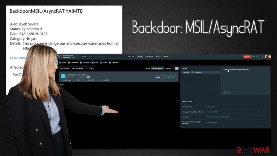 Backdoor:MSIL/AsyncRAT malware