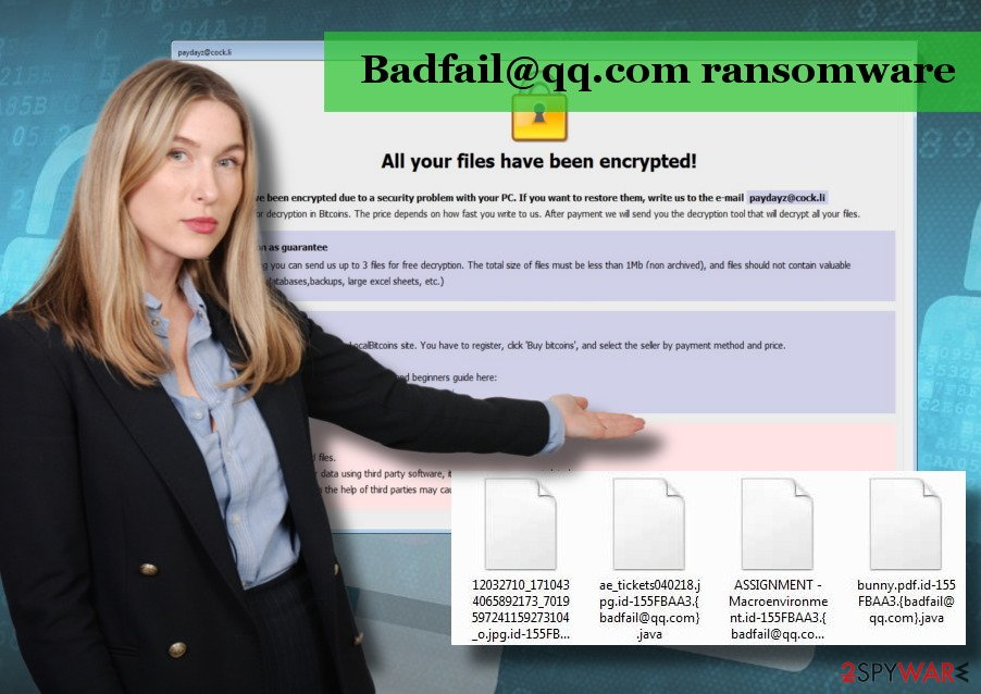 Badfail@qq.com virus is a version of Arrow ransomware