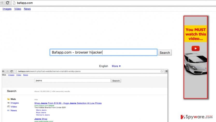 Bafapp.com browser redirect virus