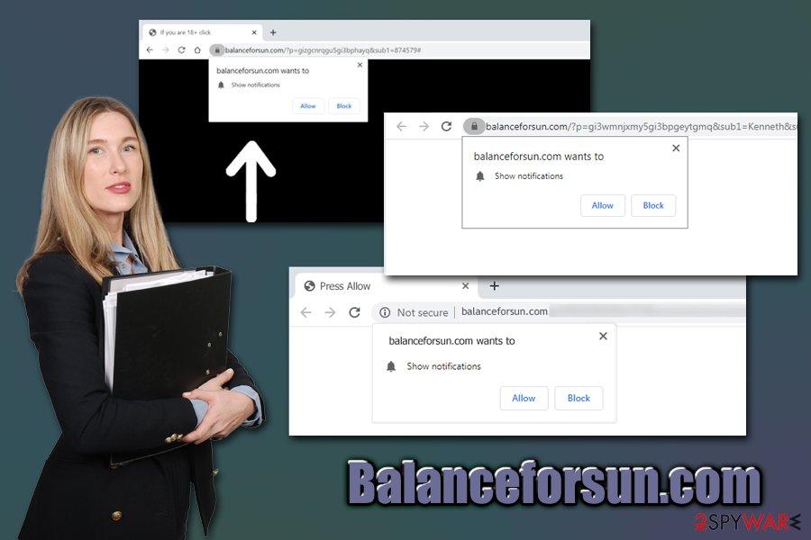 Balanceforsun.com ads