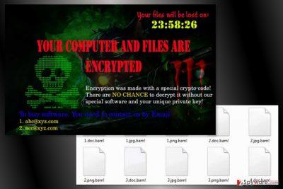 The image of Bam! ransomware virus