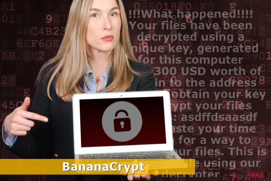 Image of BananaCrypt ransomware