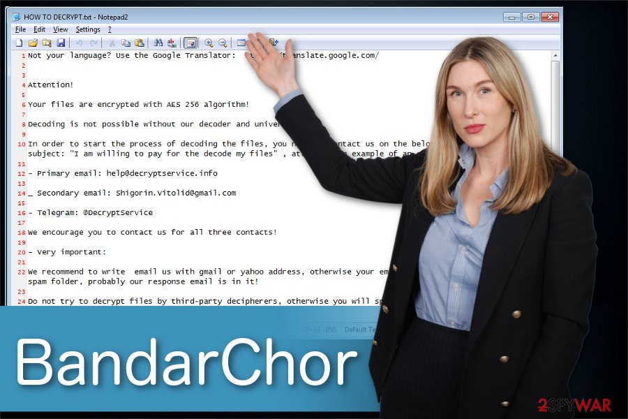 BandarChor ransomware illustration
