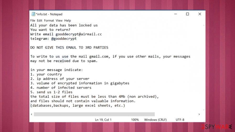Banhu ransomware virus