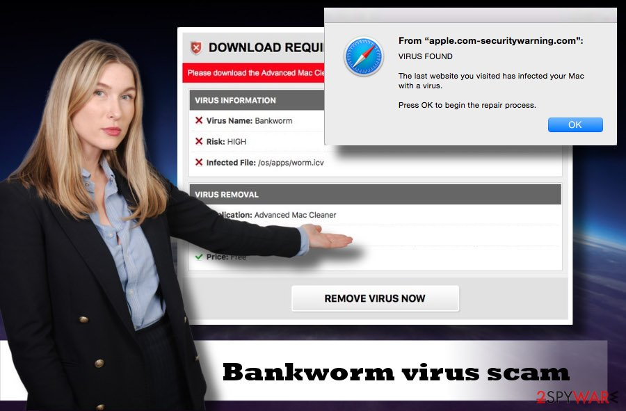 Bankworm virus detected scam
