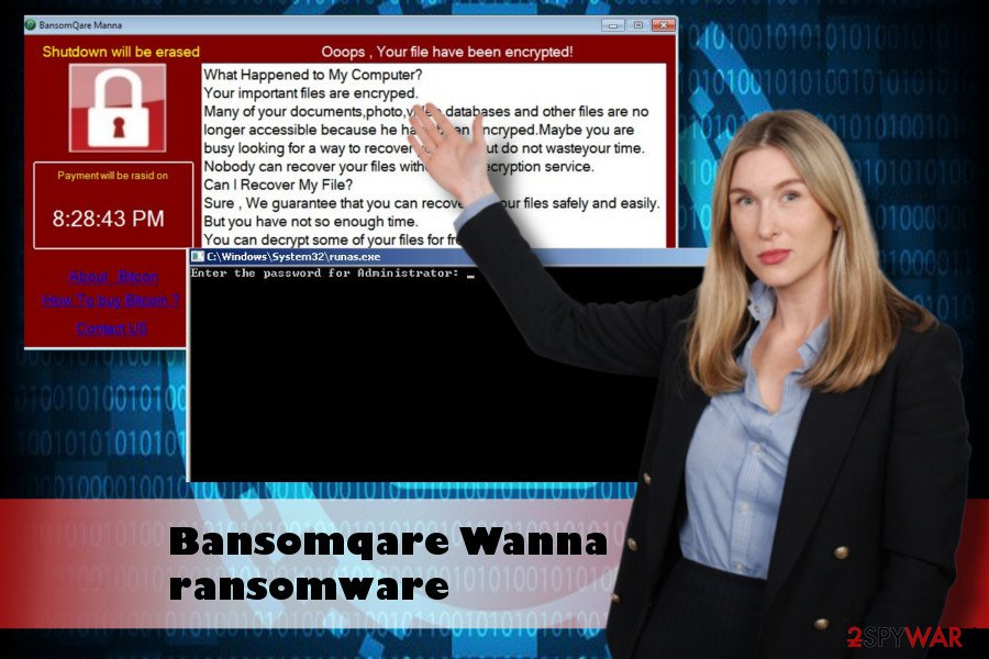 Bansomqare Wanna is a crypto-malware that locks personal files