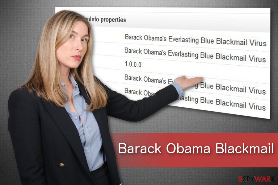 Barack Obama Blackmail ransomware illustration
