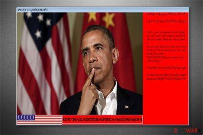 Barack Obama Blackmail ransomware image