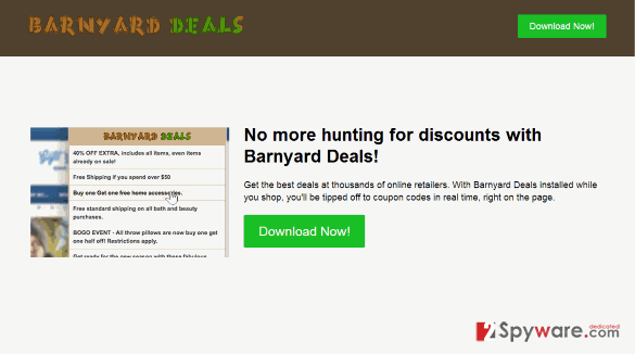 Barnyard Deals virus snapshot