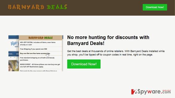 Barnyard Deals virus snapshot