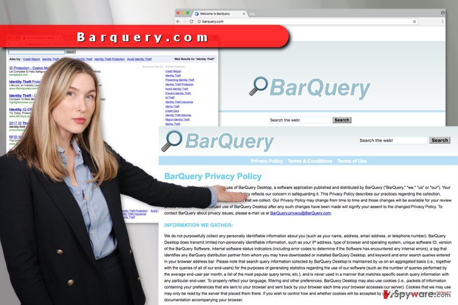 The image of Barquery.com virus