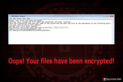 Ransom note by Battlefield ransomware virus