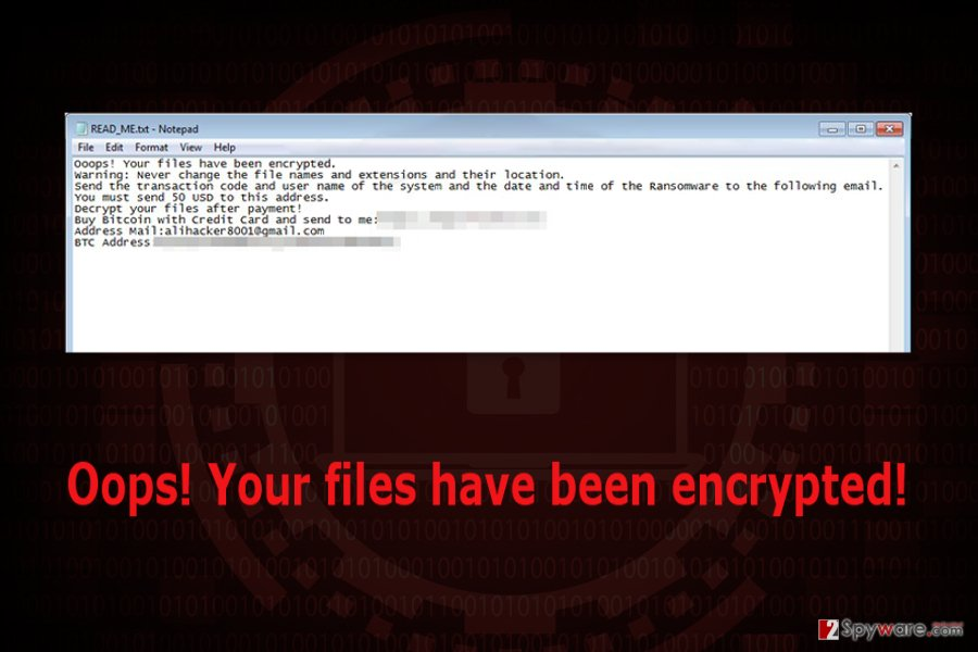 Ransom note by Battlefield ransomware virus