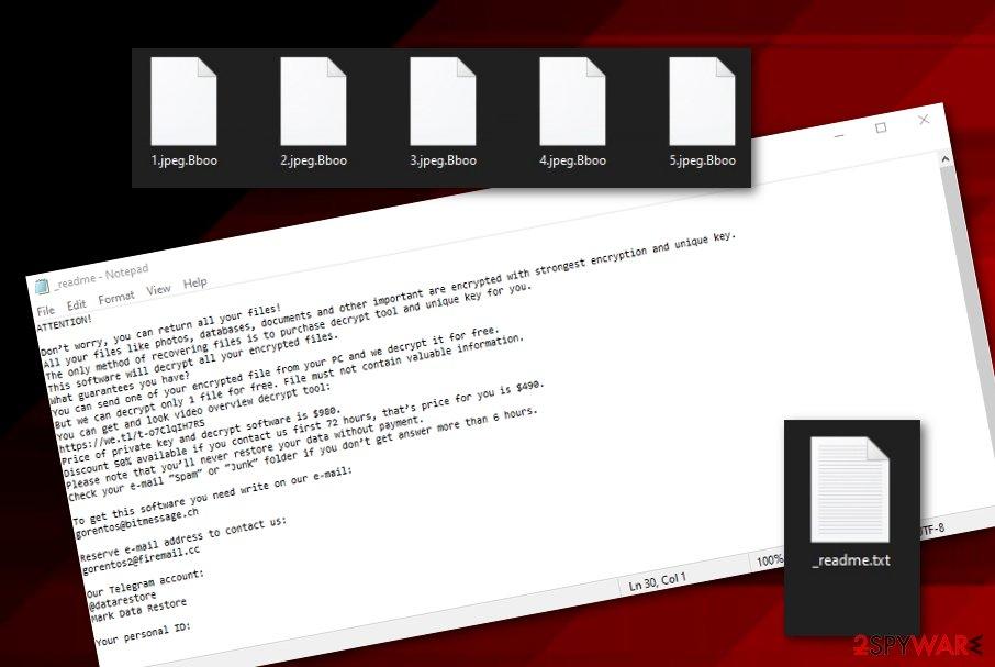 BBOO ransomware virus