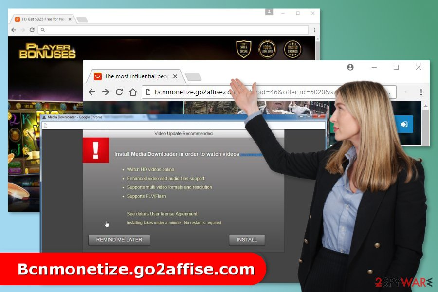 Image of Bcnmonetize.go2affise.com virus