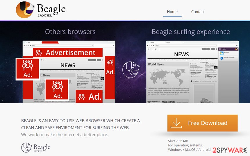 BeagleBrowser adware