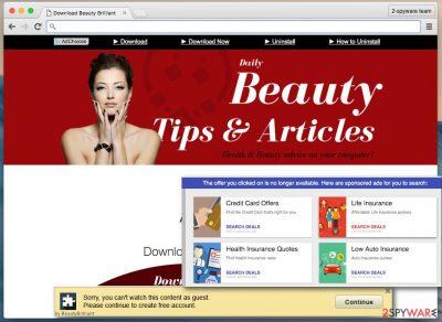 Beauty Brilliant ads