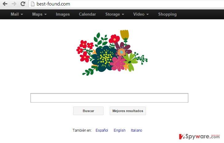 Best-Found.com redirect snapshot