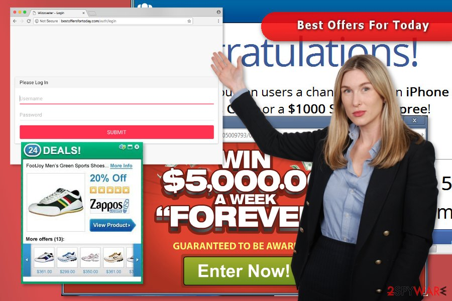 """The picture of """"Best Offers For Today"""" pop-up virus"""