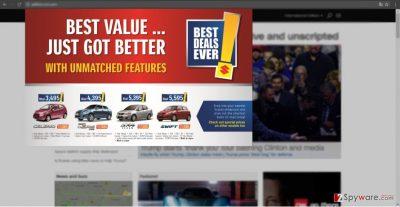The screenshot of Best Value ads