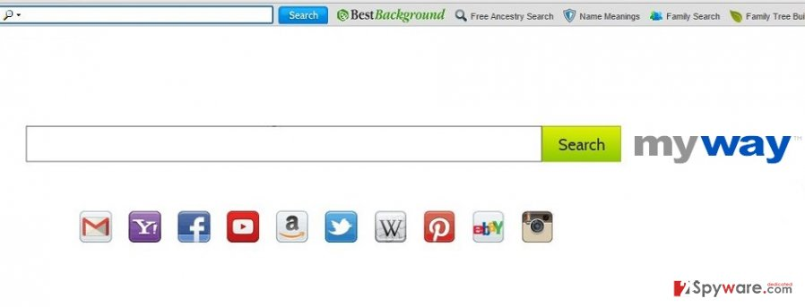 BestBackground Toolbar search