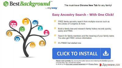 Screenshot of BestBackground Toolbar website