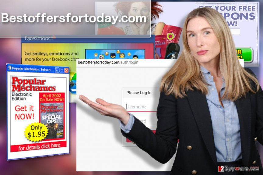 Illustration of Bestoffersfortoday.com adware