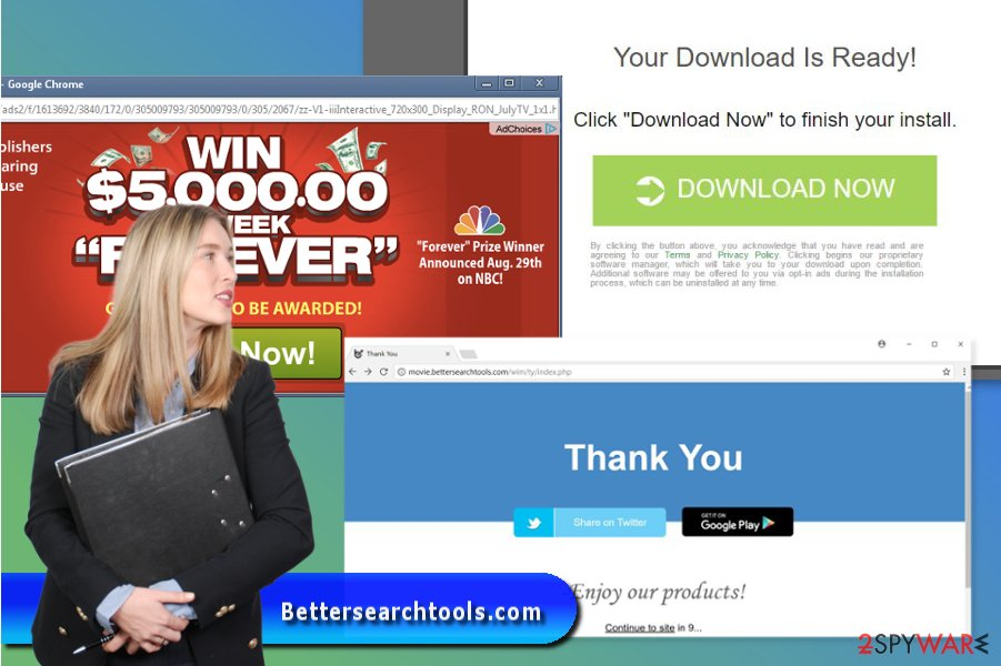 Example of Bettersearchtools.com ads