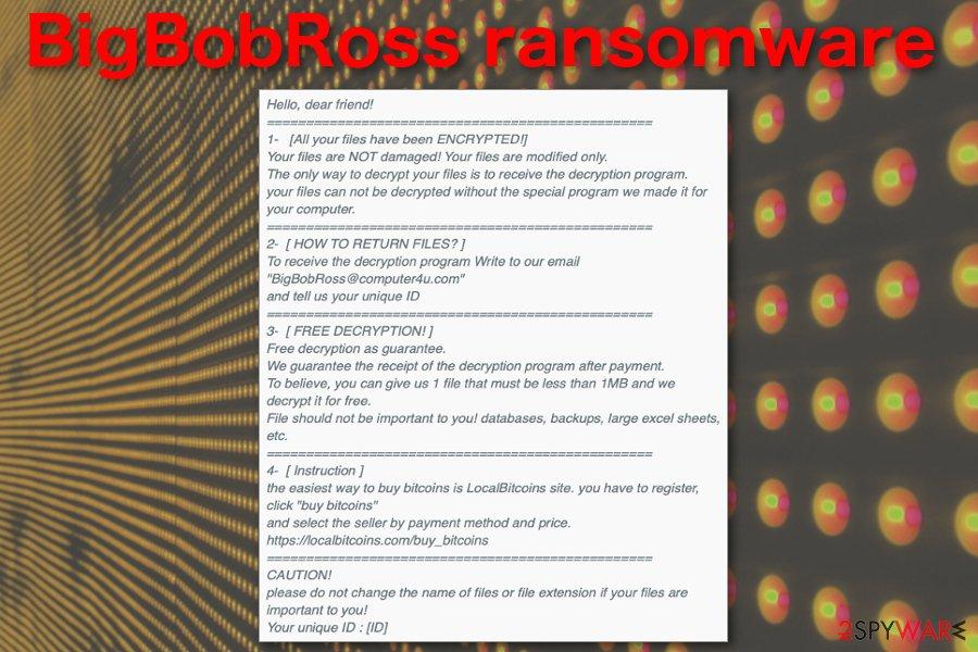 BigBobRoss ransomware