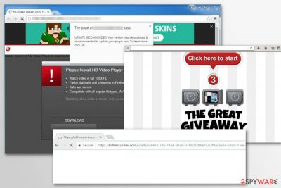 Examples of Billmscurlrev.com redirects