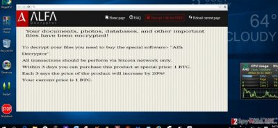 The ransom note of .bin file extension virus