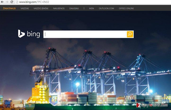 BingProtect hijacker snapshot