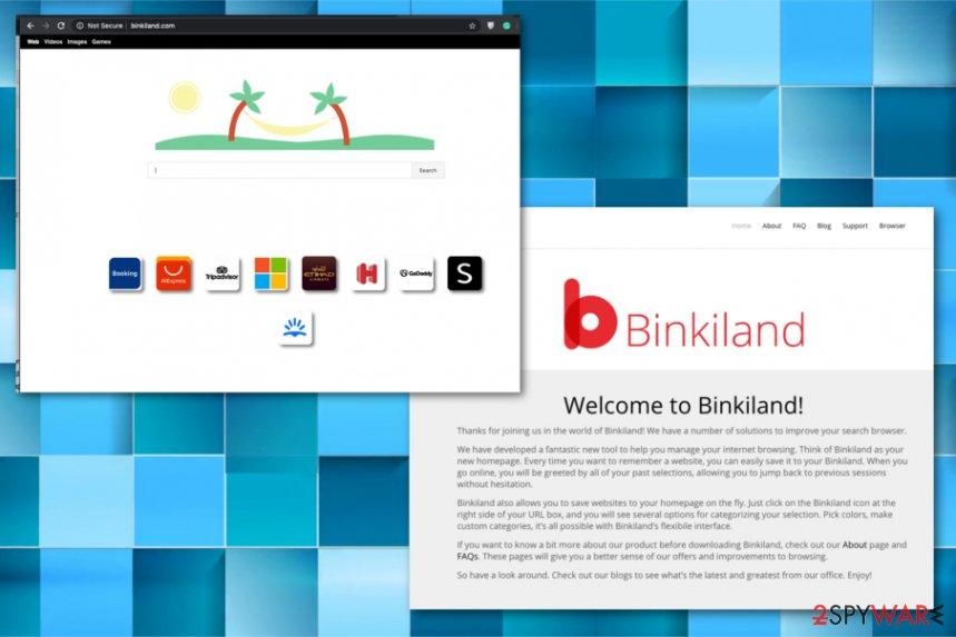Binkiland Search redirect virus