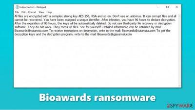 Bioawards ransomware