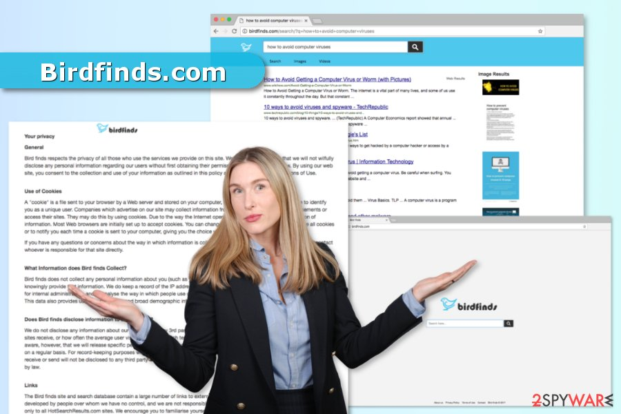 The image of Birdfinds.com virus