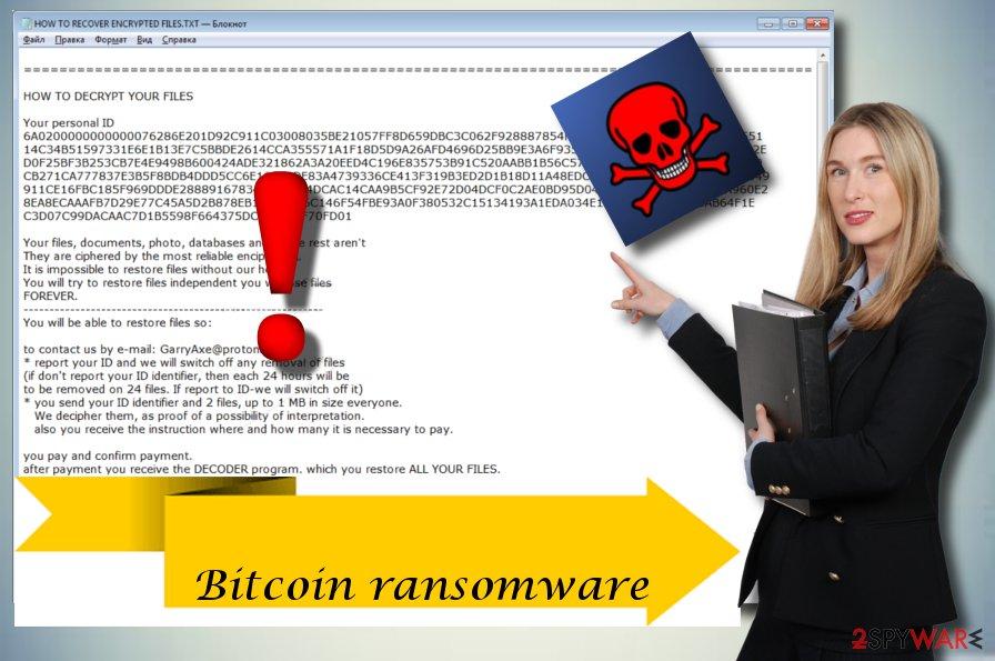 Bitcoin cryptovirus