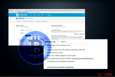 The image of Bitcoin scam example