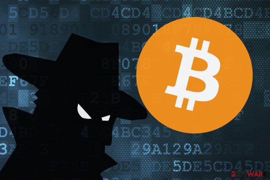 The image of Bitcoin virus