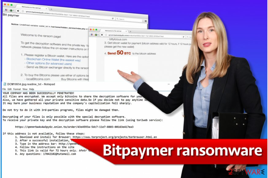Bitpaymer ransomware illustration