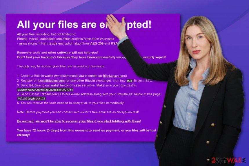 BitPyLock ransomware virus