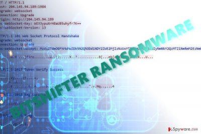 The image displaying Bitshifter virus